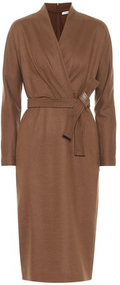 Max Mara Olimpia belted wool midi dress