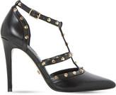 Dune Daenerys studded leather court shoes