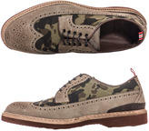Camo Green George and suede brogues