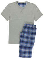George Checked Jersey Pyjamas