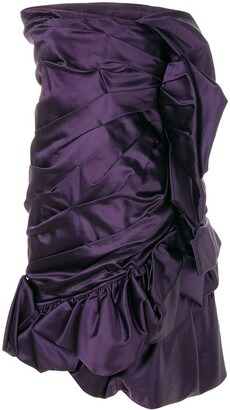 Christian Lacroix Pre Owned Draped Strapless Cocktail Dress