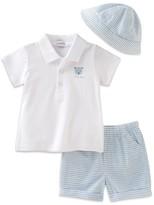 Absorba Boys' Heathered Polo, Shorts & Hat Set -Baby