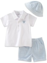 Absorba Infant Boys' Heathered Polo, Shorts & Hat Set - Sizes 0-9 Months