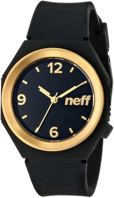 Neff Stripe Watch (Model: NF0225)Black and Gold