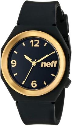 Neff Unisex NF0225BKGD Stripe Analog Display Japanese Quartz Black Watch