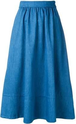 A.P.C. pleated midi skirt