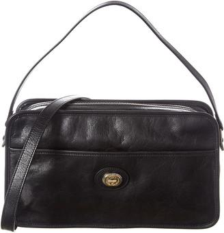 Gucci Interlocking G Leather Messenger Bag