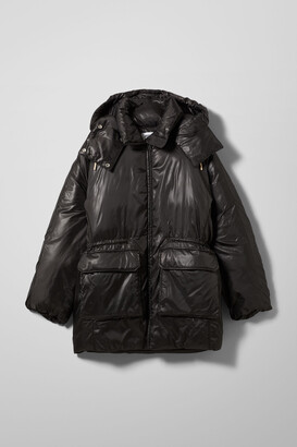 Weekday Martine Puffer Jacket - Black