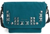 Marc Jacobs 'Small Studs' Canvas Messenger Bag
