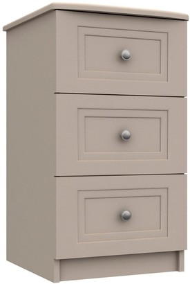Reid Ready Assembled 3 Drawer Bedside Chest
