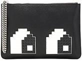 Les Petits Joueurs Envelope Small Eye Clutch in Black.