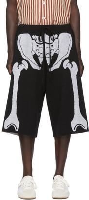 Loewe Black and White William De Morgan Skeleton Shorts
