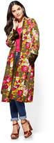 New York & Co. Floral Kimono
