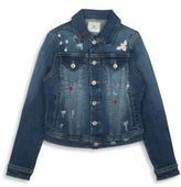 AG Jeans Girl's The Ella Distressed Denim Jacket