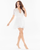 Soma Intimates Windsong Bridal Chiffon and Lace Short Robe Ivory