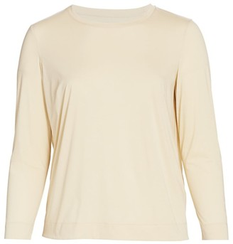 Lafayette 148 New York, Plus Size Modern Long-Sleeve Tee