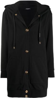 Versace Logo-Print Hoodie Coat