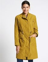 Marks and Spencer Drawstring Waist Parka with StormwearTM