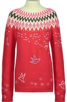 Nina Ricci Intarsia Wool-Blend Turtleneck Sweater