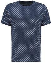 Knowledge Cotton Apparel Print Tshirt Dunkelblau