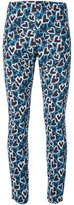 Ungaro all-over heart print trousers