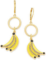Kate Spade Out Of Office Gold-Tone Enamel Banana Drop Earrings