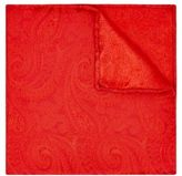Moss Bros Mens Red Paisley Silk Pocket Square