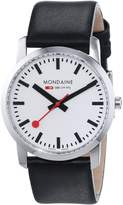 Mondaine Women's 'SBB' Swiss Quartz Stainless Steel and Leather Casual Watch, Color: (Model: A400.30351.11SBB)