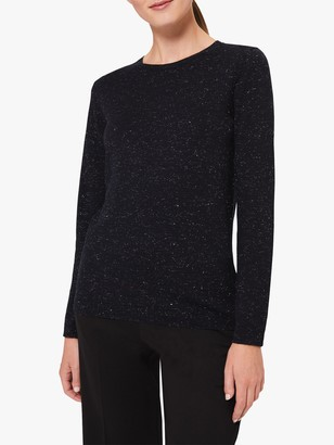 Hobbs Penny Sparkle Cotton Blend Sweater
