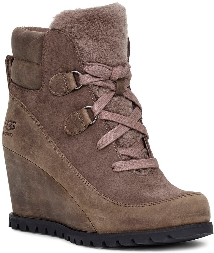 Round Toe Lace Up Boots - ShopStyle