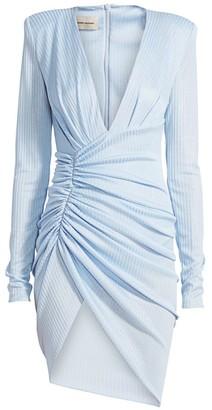 Alexandre Vauthier Deep-V Faux Wrap Mini Dress
