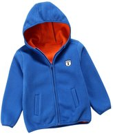 YJ.GWL Unisex Kids Zipper Hoodie Fleece Jacket For Boys or Girls(,120)