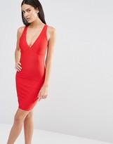 Missguided Plunge Neck Bodycon Dress
