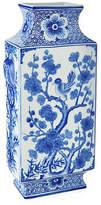 "One Kings Lane 6"" Bird Vase - Blue/White"