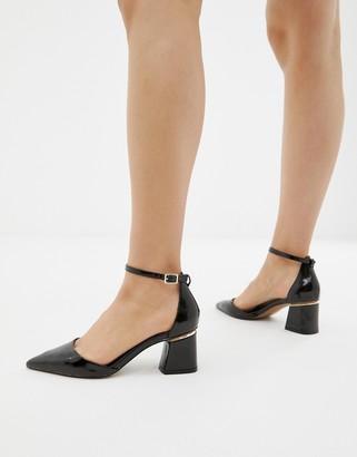Asos Design DESIGN Stardust pointed mid heels-Black