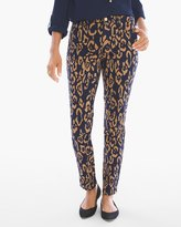 Chico's Animal Sateen Girlfriend Ankle Jeans