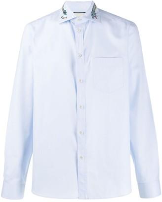 Gucci Duke dragon embroidered collar shirt