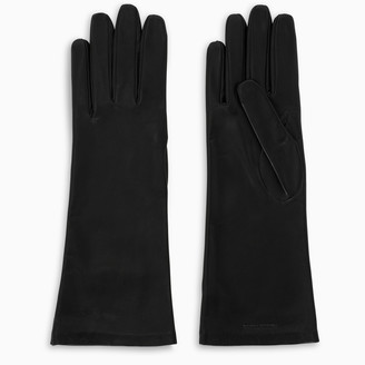 Saint Laurent Black leather gloves