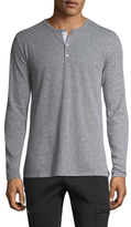 Onia Miles Linen Long Sleeve Henley