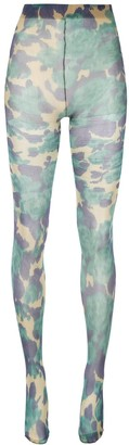 Richard Quinn all-over print sock leggings