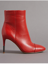 Autograph Leather Stiletto Heel Toe Cap Ankle Boots