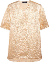 Joseph Harrison Crinkled-satin Top - Cream