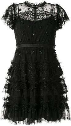 Needle & Thread Belted Ruffled Trim Dress