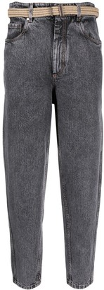 Brunello Cucinelli Belted Cropped Jeans