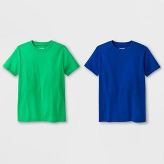 Cat & Jack Boys' 2pk Short Sleeve T-Shirt - Cat & JackTM Green/Blue