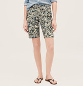 LOFT Paisley Print Walking Shorts in Marisa Fit with 10 Inch Inseam