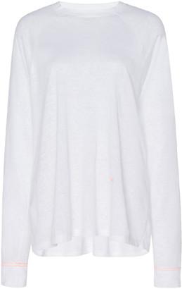 Victoria Beckham Linen Raglan Long-Sleeve Tee