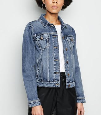 New Look Puff Sleeve Denim Jacket