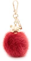 Furla Bubble Keyring Fur Pom Pom
