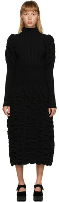 Paula Canovas Del Vas Black Long Knit Dress